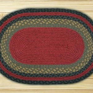 Earth Rugs Burgundy Olive Charcoal