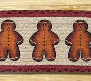 EARTH RUGS Gingerbread Men BRAIDED JUTE Stair Treads ST-OP-111
