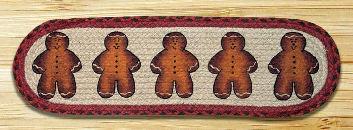 EARTH RUGS Gingerbread Men BRAIDED JUTE Stair Treads ST-OP-111