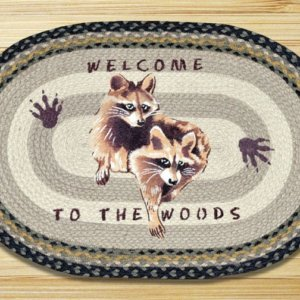 Earth Rugs Raccoon Welcome Mat Natural Braided Jute