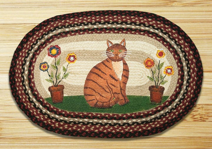 Earth Rugs Folk Art Cat