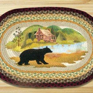 Earth Rugs Cabin Bear