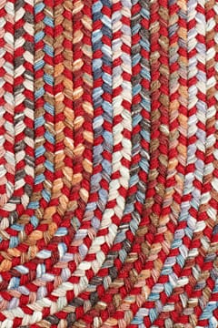 Rhody Red Velvet Braided Area Rug Multi Wool Astoria As 42