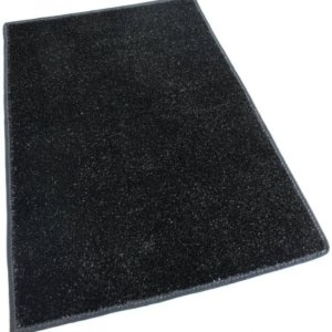 Black Indoor-Outdoor Artificial Grass Turf Area Rug Carpet