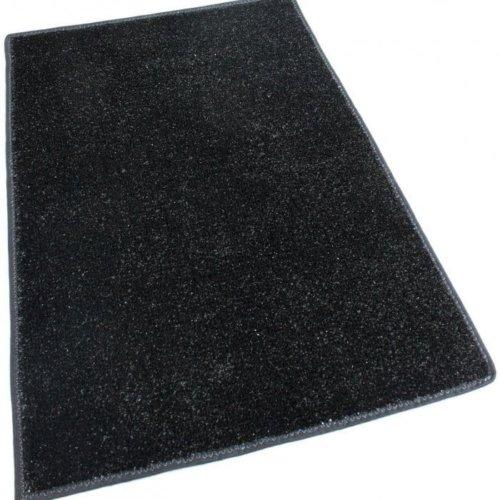 Black Indoor-Outdoor Artificial Grass Turf Area Rug Carpet black turf