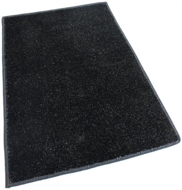 Black Indoor-Outdoor Artificial Grass Turf Area Rug Carpet black turf