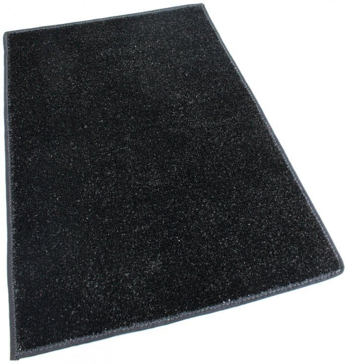 Black Indoor Outdoor Artificial Grass Turf Area Rug Carpet