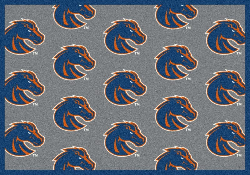 Boise State Broncos Area Rug Ncaa Collegiate Team Repeat