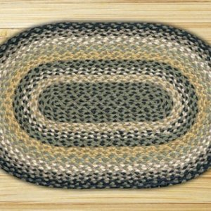 Earth Rugs Black Mustard Creme