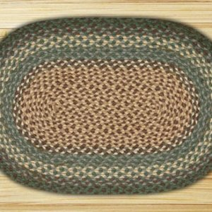Earth Rugs Dark Green