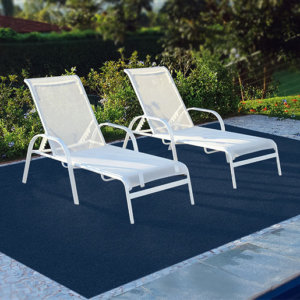 Cadet Blue Indoor and Outdoor Area Rug