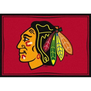 Chicago Blackhawks NHL Team Spirit Area Rug