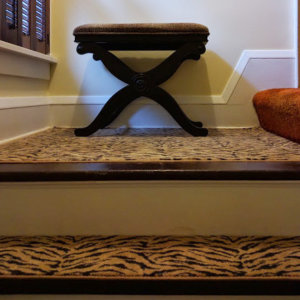 tiger pattern stair treads
