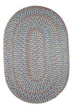 Rhody Marina Blue Braided Area Rug
