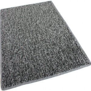 Grey Black Indoor-Outdoor Artificial Grass Turf Area Rug Carpet
