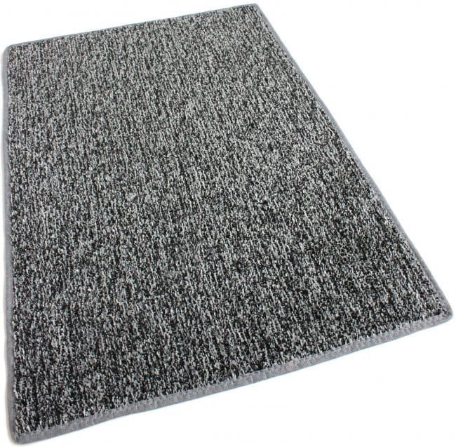 Grey Black Indoor Outdoor Artificial Grass Turf Area Rug