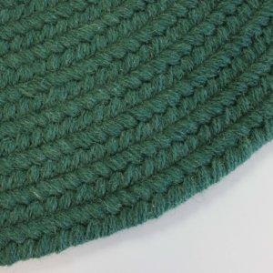 Rhody Hunter Green Braided Area Rug