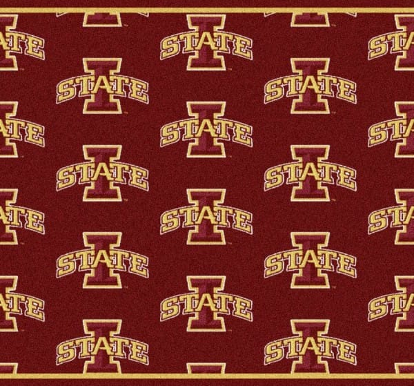 Iowa State Cyclones Area Rug | NCAA Collegiate Team Repeat Area Rug