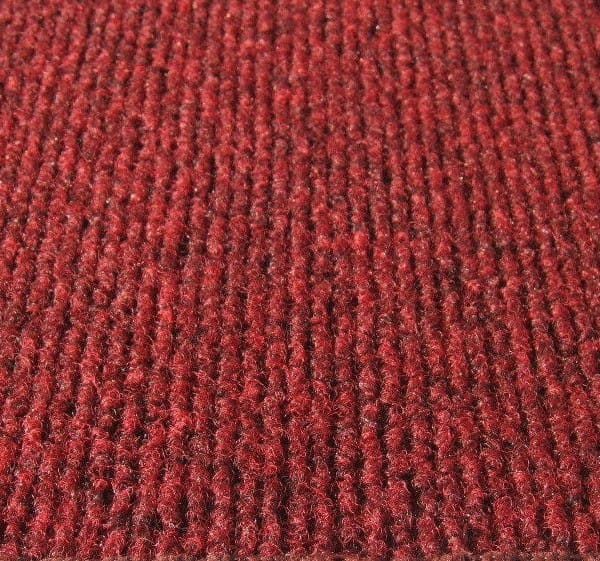 Brick red indoor outdoor unbound carpet area rug for Indoor out door carpet