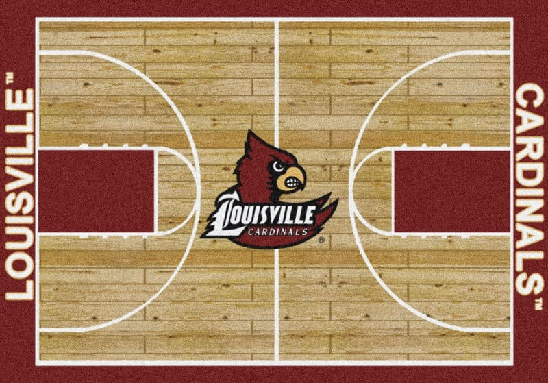 Louisville Cardinals Area Rug Ncaa Collegiate Homecourt