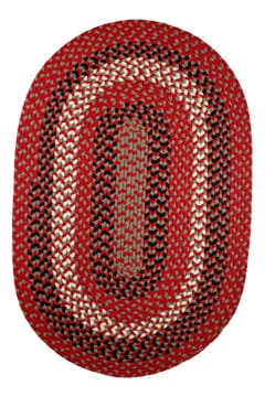 Rhody Red Brick Braided Area Rug