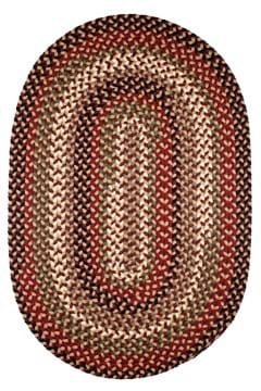 Rhody Sangria Braided Area Rug