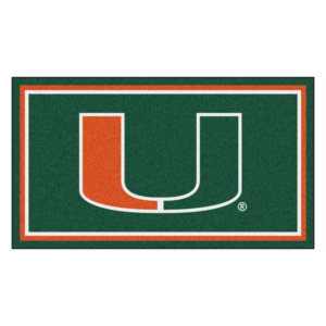 "Miami Hurricanes Area Rug | NCAA Hurricanes Logo 5' 4"" x 7' 8"""