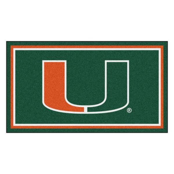 "Miami Hurricanes Area Rug | NCAA Hurricanes Logo 5' 4"" x 7' 8"""