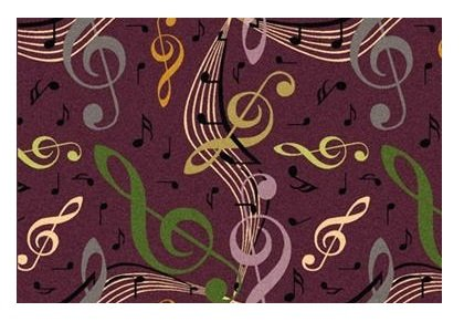 Joy Virtuoso Music Notes 1573 Stainmaster Premium Nylon Carpet Area Rug |  CUSTOM Create Your Size Below (Simply Choose Color, Shape And Your  Dimensions)