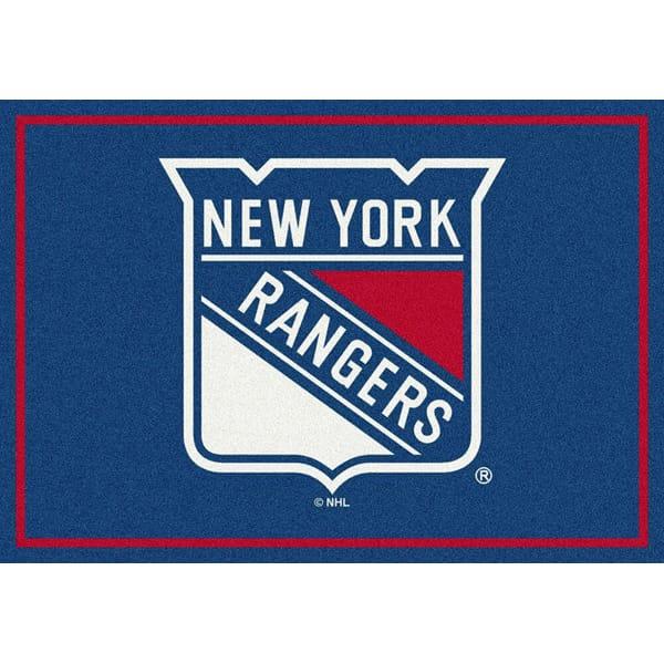 New York Rangers Nhl Team Spirit Area Rug