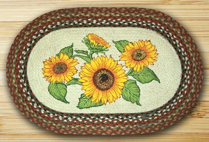 Earth Rugs Sunflowers