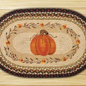 Earth Rugs Pumpkin Candy Corn