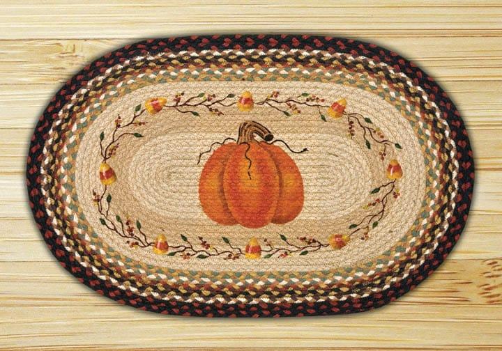 Earth Rugs Pumpkin Candy Corn