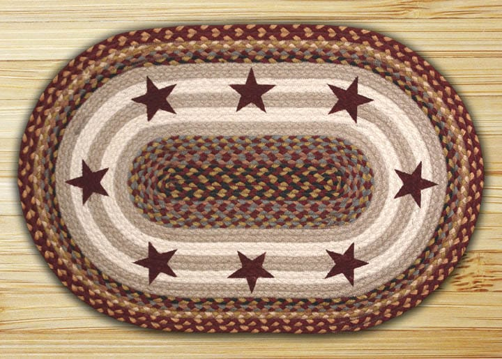 earth rugs burgundy stars earth rugs burgundy stars oval patch braided rug collection 20u2033 x 30u2033 op3571