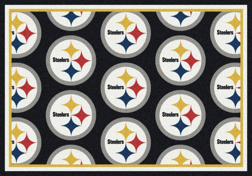 Pittsburgh Steelers Area Rug Nfl Team Repeat