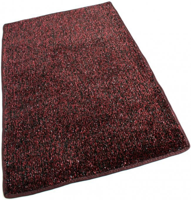 Red Black Indoor Outdoor Artificial Grass Turf Area Rug Carpet