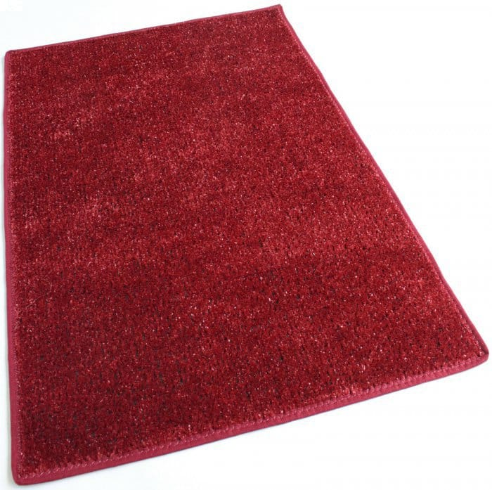 Red Indoor-Outdoor Artificial Grass Turf Area Rug Carpet