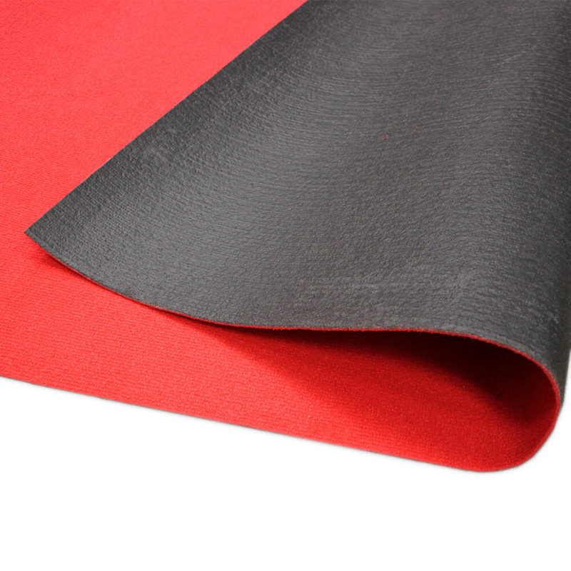 Bright Red Indoor-Outdoor Unbound Carpet Area Rug backing