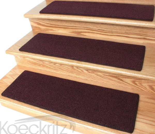 Red Level Loop Stair Treads
