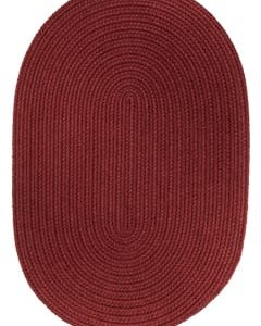 Rhody Colonial Red Braided Area Rug