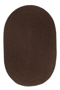 Rhody Brown Braided Area Rug