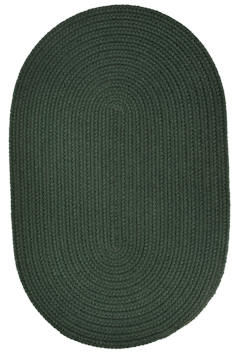 Rhody Spruce Green Braided Area Rug