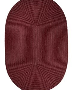 Rhody Burgundy Braided Area Rug