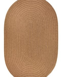 Rhody Light Brown Braided Area Rug
