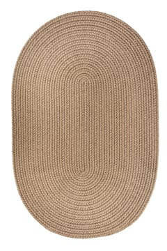 Rhody Dark Taupe Braided Area Rug Solid Color S0 26