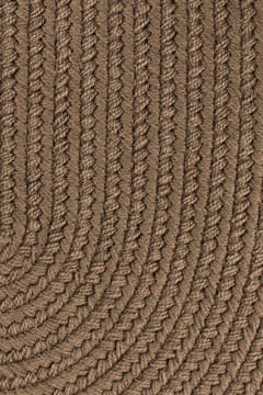 Rhody Brown Velvet Braided Area Rug Solid Color S0 27