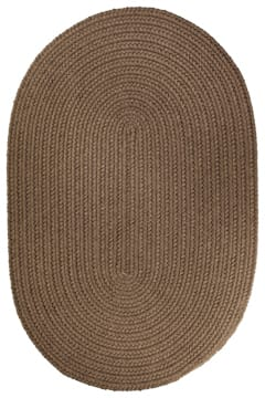 Rhody Brown Velvet Braided Area Rug