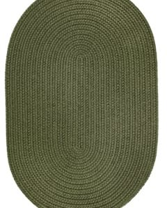 Rhody Dark Sage Braided Area Rug