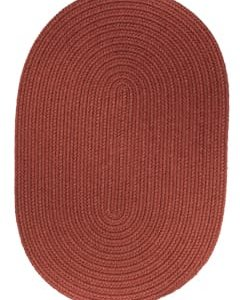 Rhody Terra Cotta Braided Area Rug