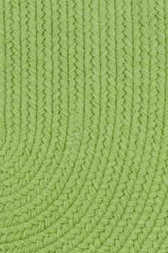 Rhody Key Lime Braided Area Rug Solid Color S0 44